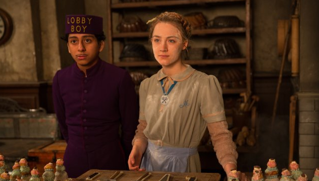 Another photo of Tony Revolori and Saoirse Ronan from THE GRAND BUDAPEST HOTEL